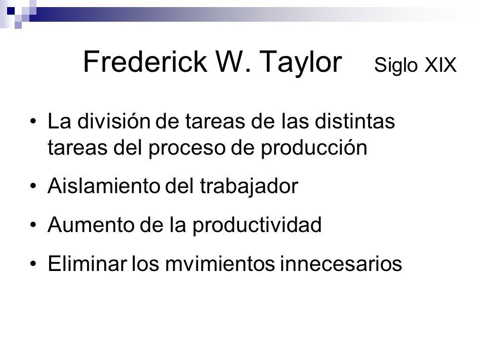 Frederick W. Taylor Siglo XIX