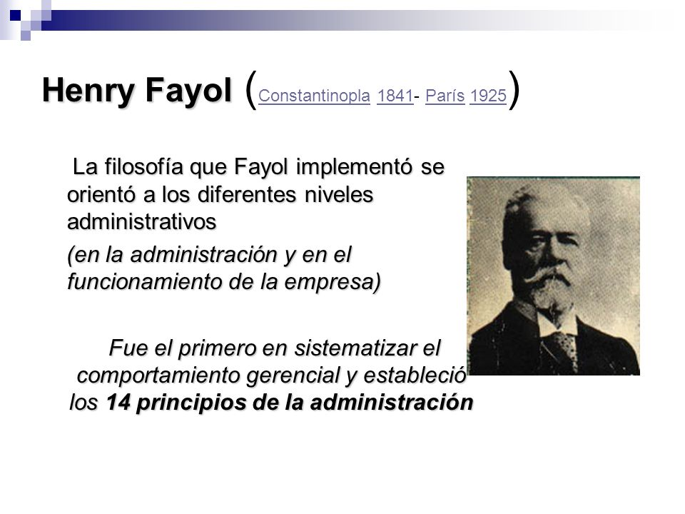 Henry Fayol (Constantinopla 1841- París 1925)