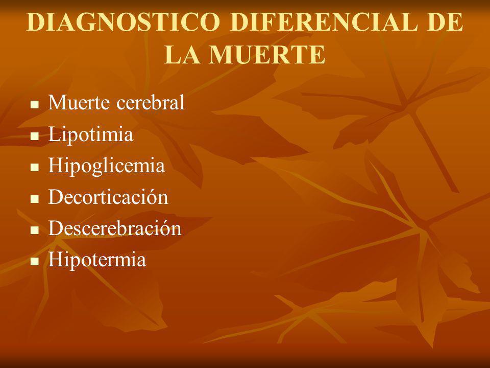DIAGNOSTICO DIFERENCIAL DE LA MUERTE