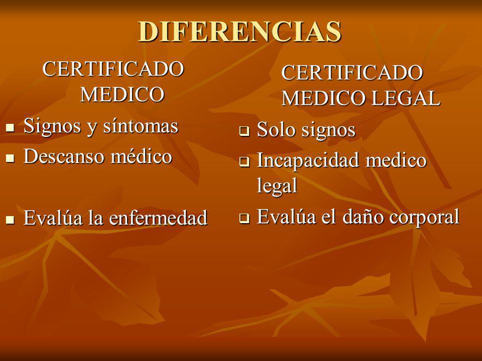 CERTIFICADO MEDICO LEGAL