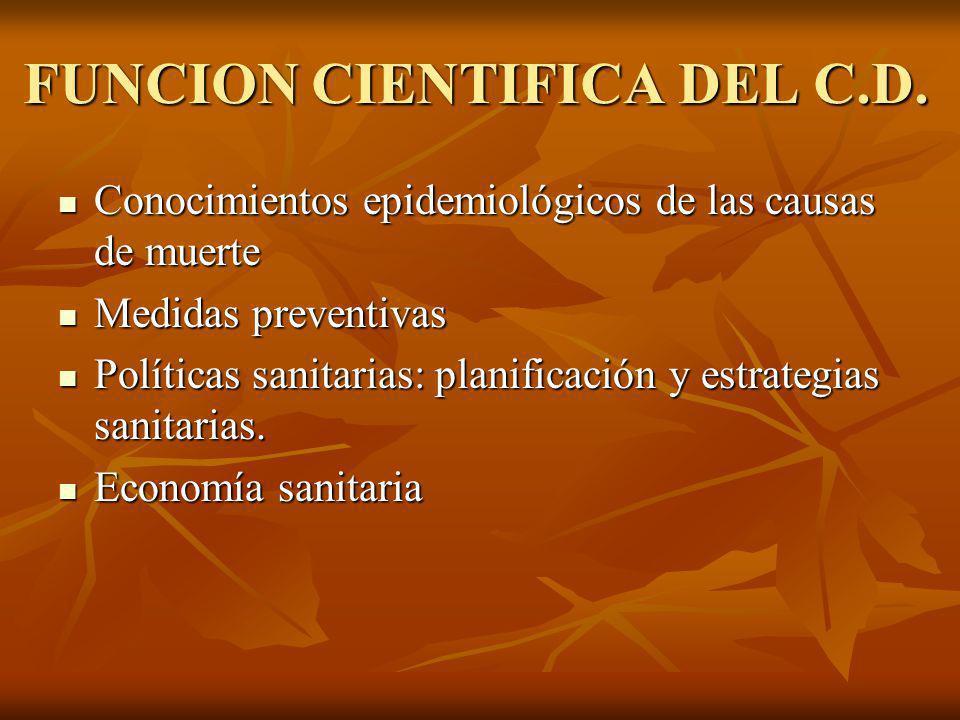 FUNCION CIENTIFICA DEL C.D.