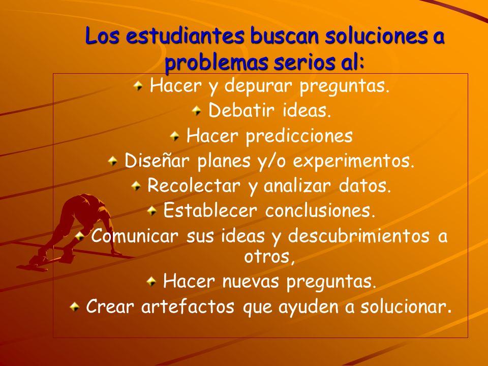 Los estudiantes buscan soluciones a problemas serios al: