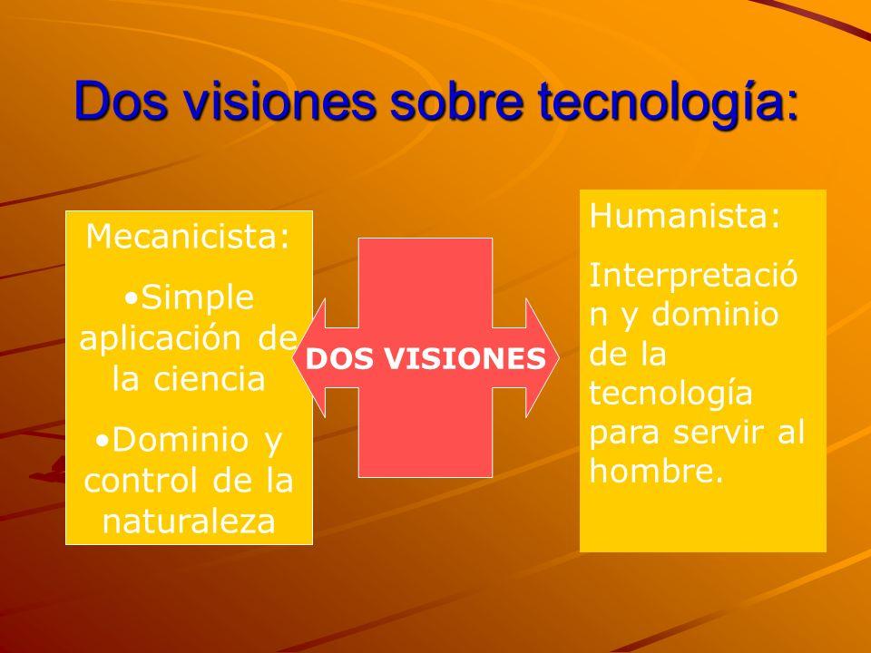 Dos visiones sobre tecnología: