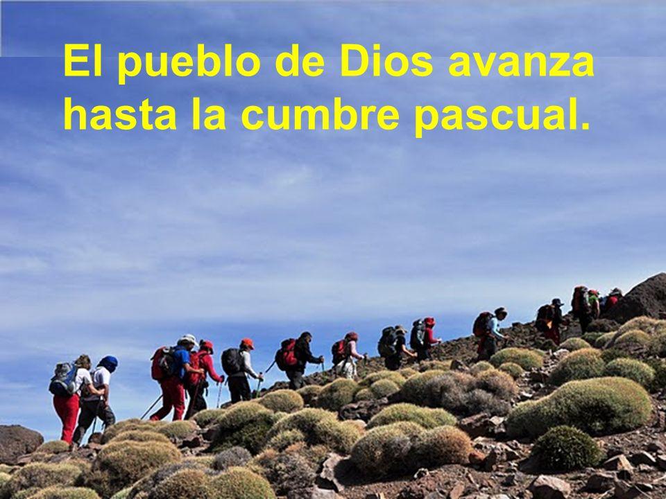 El pueblo de Dios avanza hasta la cumbre pascual.