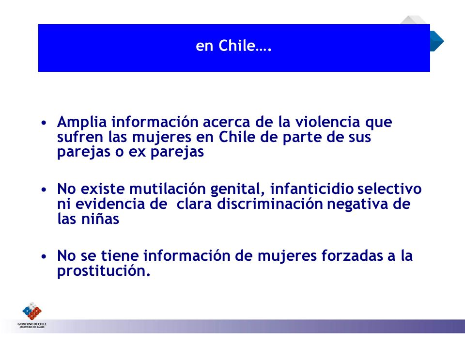 en Chile…. Amplia información acerca de la violencia que sufren las mujeres en Chile de parte de sus parejas o ex parejas.