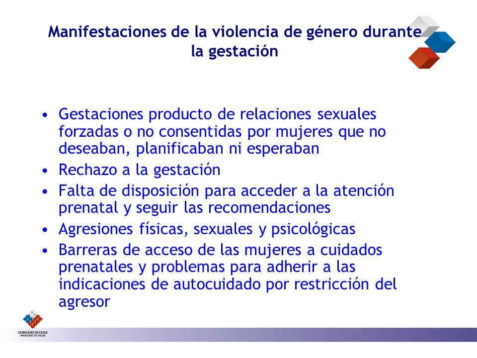 Manifestaciones de la violencia de género durante la gestación