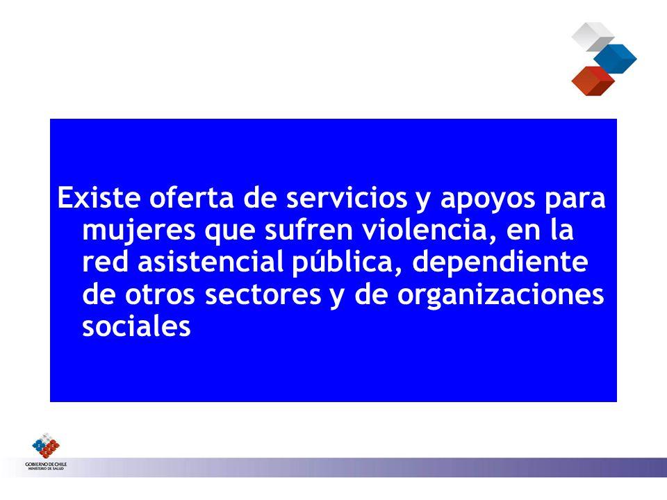 Existe oferta de servicios y apoyos para mujeres que sufren violencia, en la red asistencial pública, dependiente de otros sectores y de organizaciones sociales