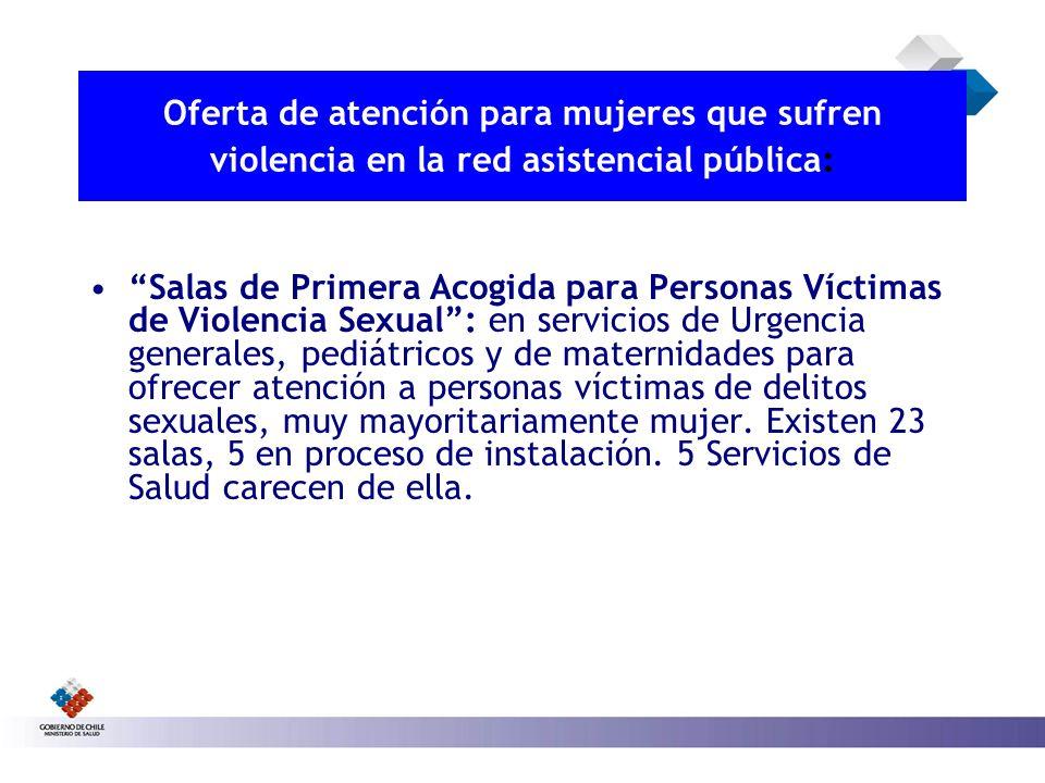 Oferta de atención para mujeres que sufren violencia en la red asistencial pública: