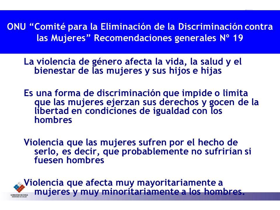 ONU Comité para la Eliminación de la Discriminación contra las Mujeres Recomendaciones generales Nº 19