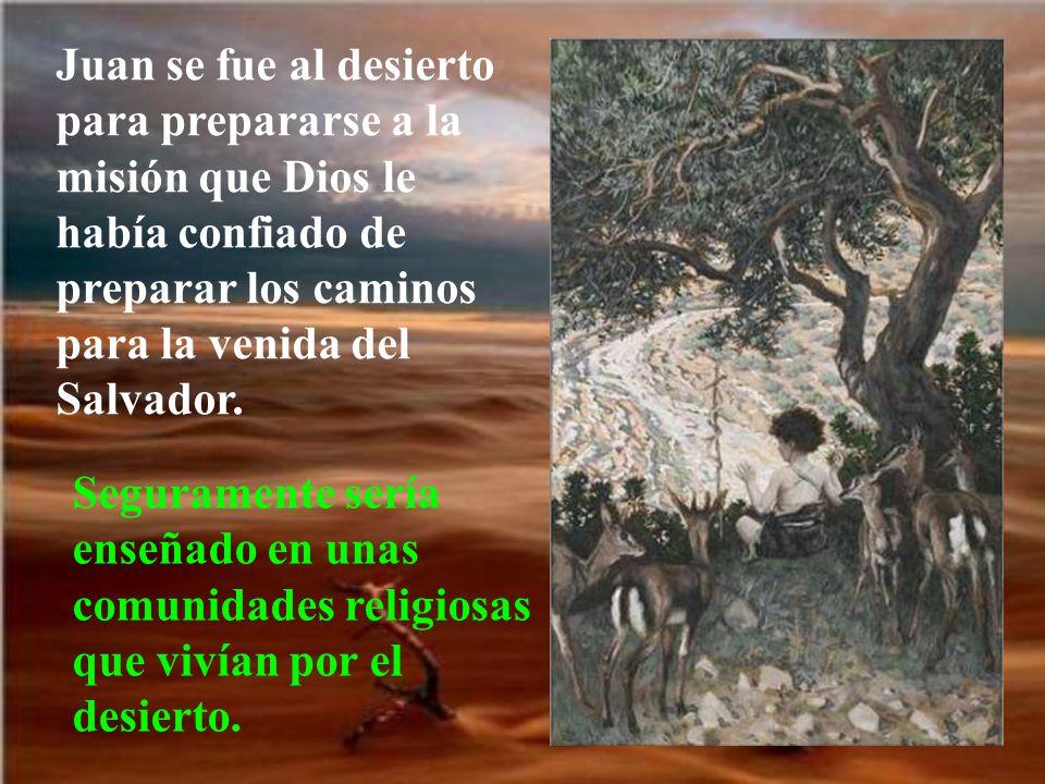 Juan se fue al desierto para prepararse a la misión que Dios le había confiado de preparar los caminos para la venida del Salvador.