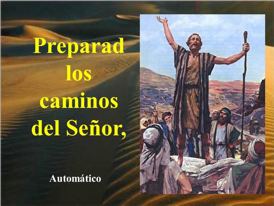 Preparad los caminos del Señor,
