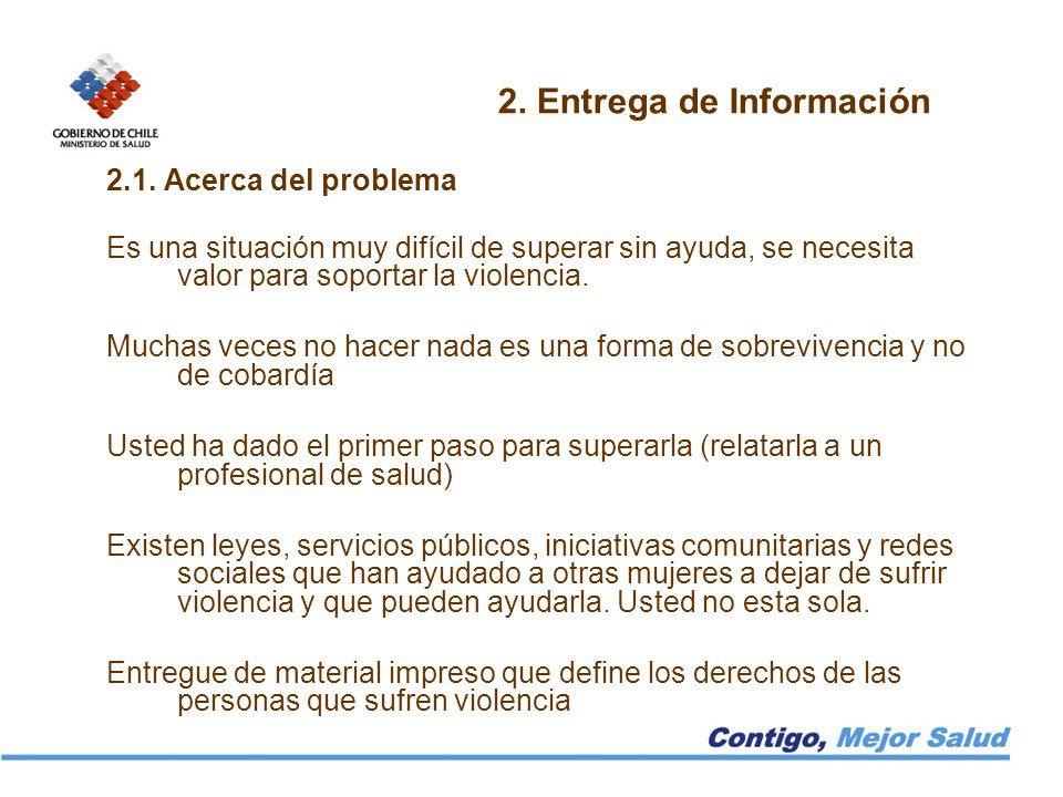 2. Entrega de Información