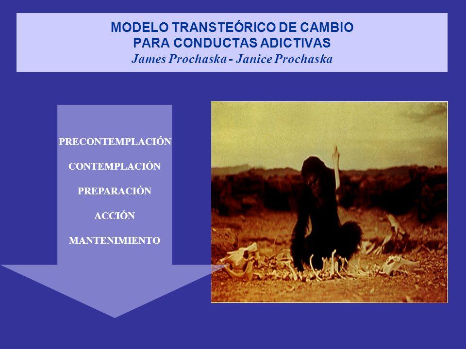 MODELO TRANSTEÓRICO DE CAMBIO PARA CONDUCTAS ADICTIVAS James Prochaska - Janice Prochaska