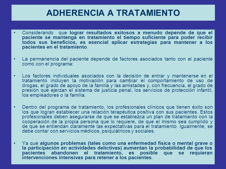 ADHERENCIA A TRATAMIENTO