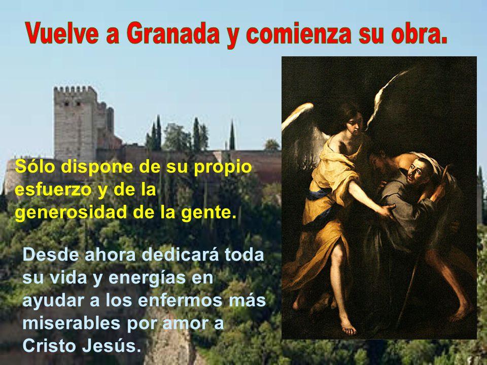 Vuelve a Granada y comienza su obra.