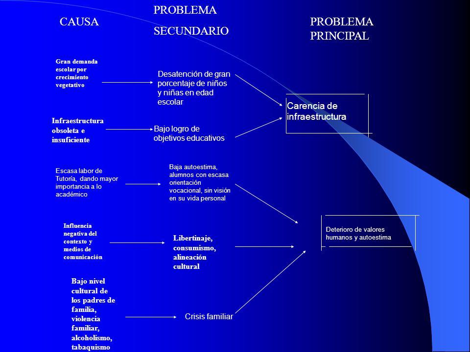 PROBLEMA SECUNDARIO CAUSA PROBLEMA PRINCIPAL