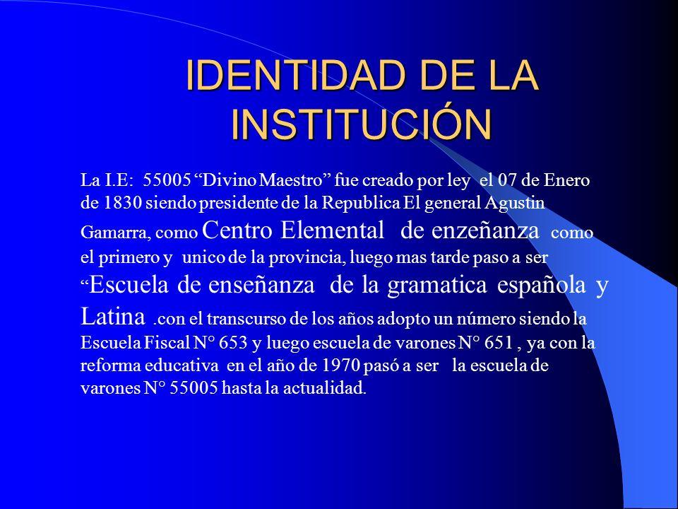 IDENTIDAD DE LA INSTITUCIÓN