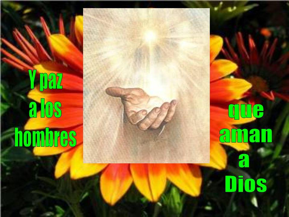 Y paz a los hombres que aman a Dios