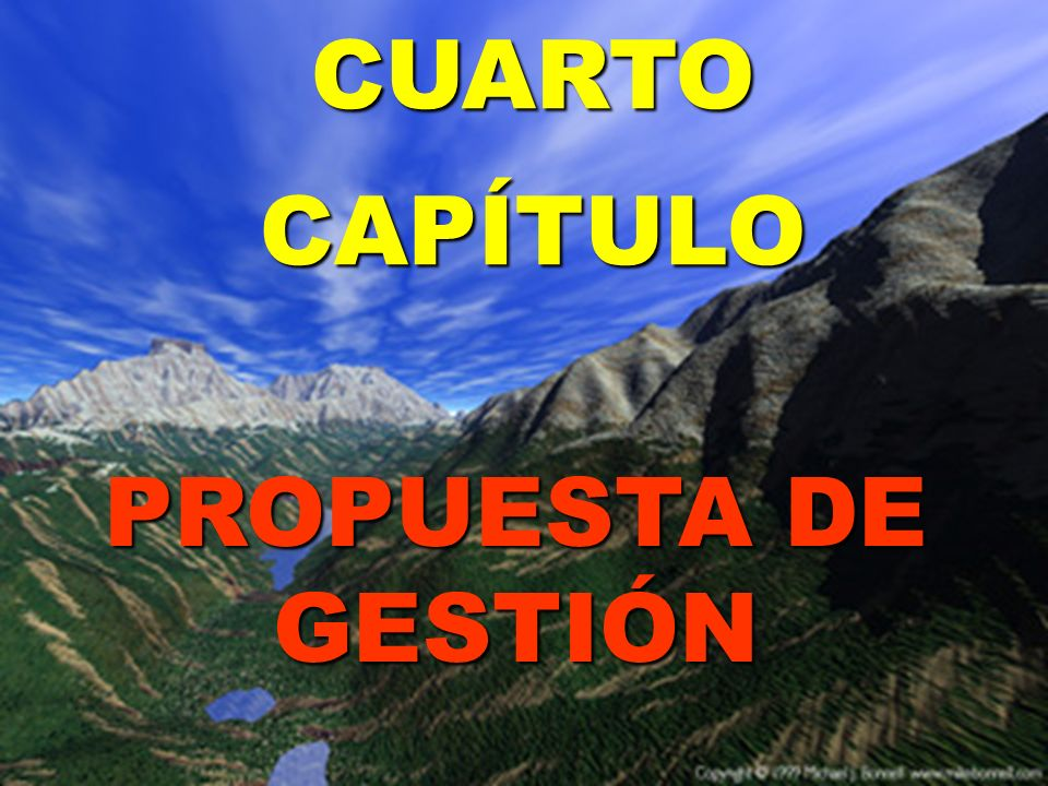 CUARTO CAPÍTULO PROPUESTA DE GESTIÓN