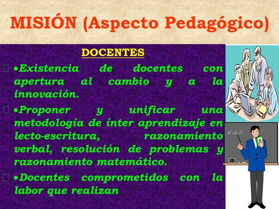 MISIÓN (Aspecto Pedagógico)