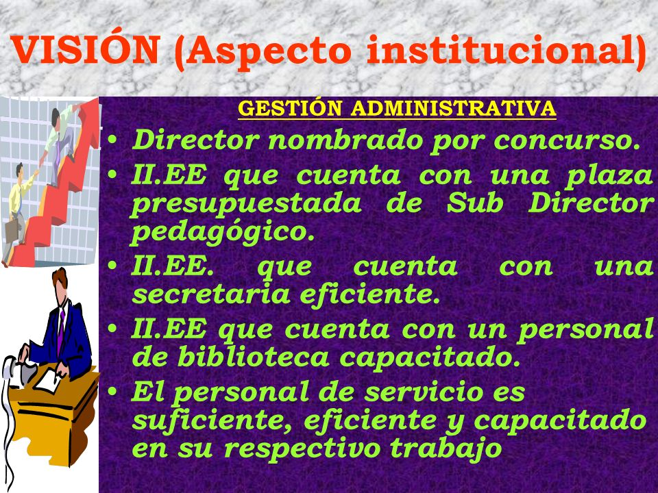 VISIÓN (Aspecto institucional)