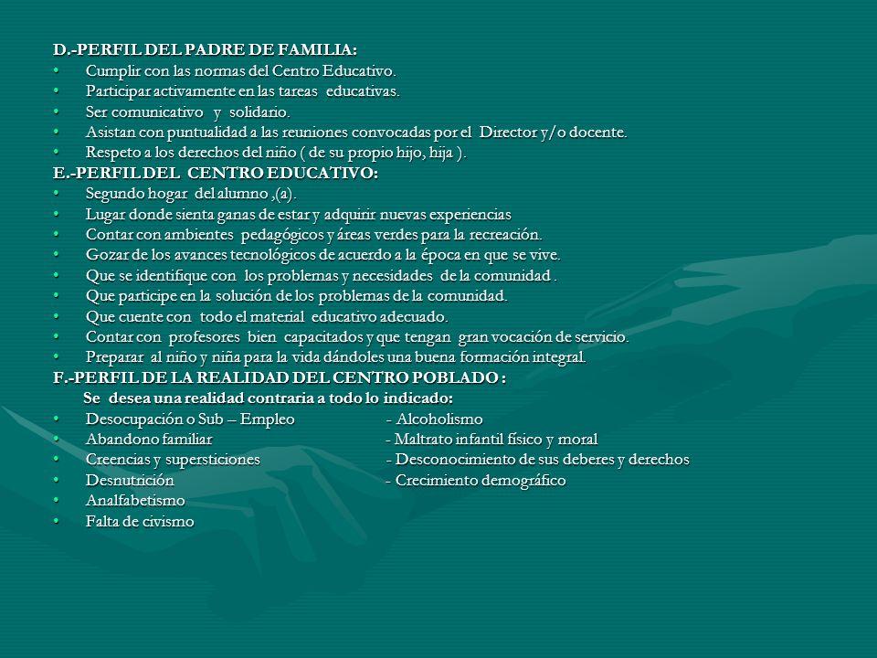D.-PERFIL DEL PADRE DE FAMILIA: