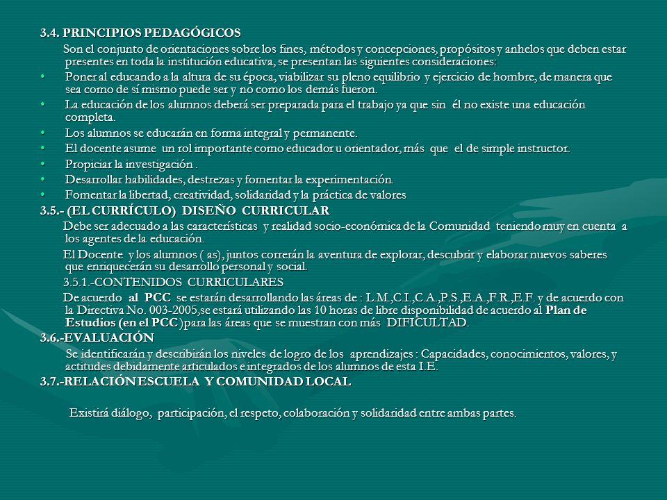3.4. PRINCIPIOS PEDAGÓGICOS