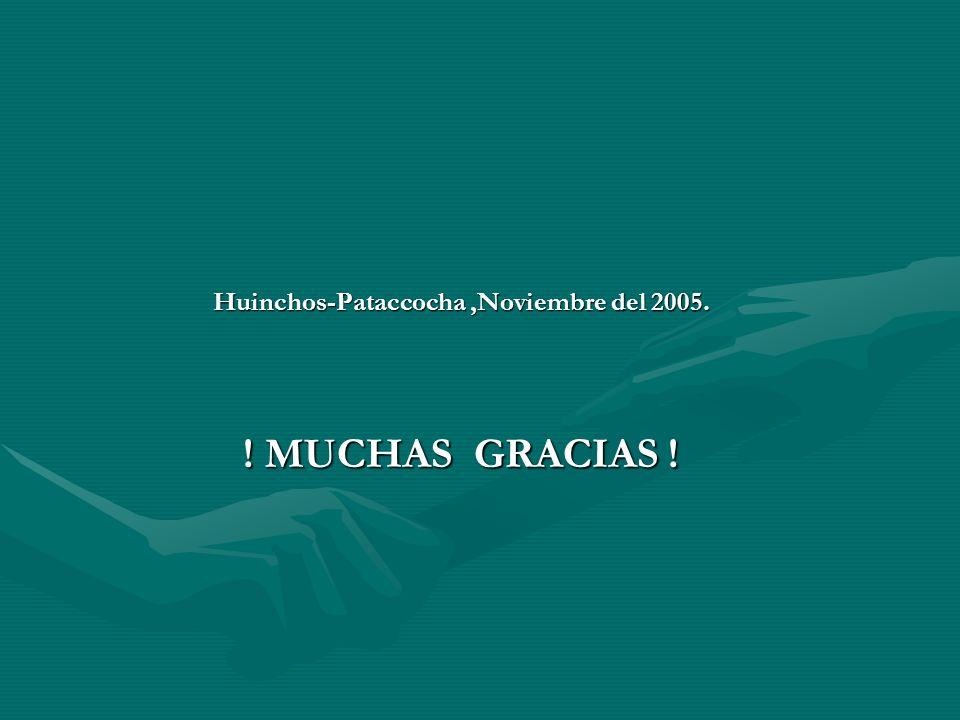 Huinchos-Pataccocha ,Noviembre del 2005. ! MUCHAS GRACIAS !