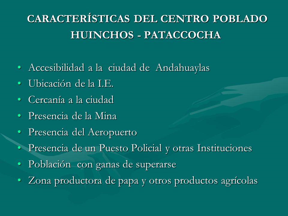 Accesibilidad a la ciudad de Andahuaylas Ubicación de la I.E.