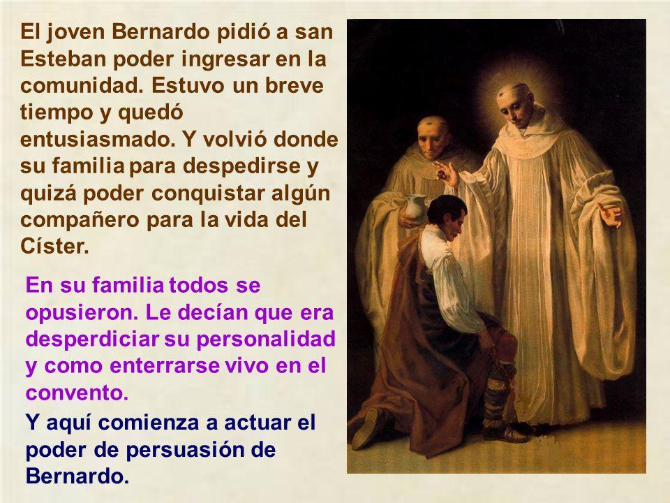 El joven Bernardo pidió a san Esteban poder ingresar en la comunidad