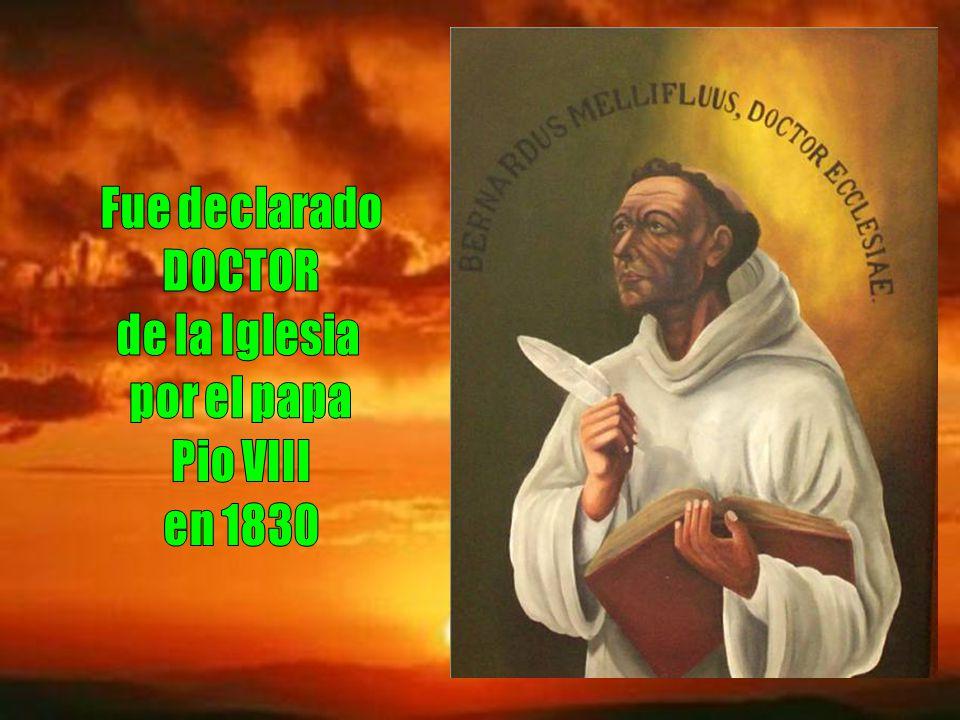 Fue declarado DOCTOR de la Iglesia por el papa Pio VIII en 1830