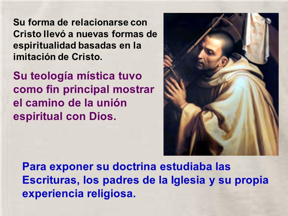 Su forma de relacionarse con Cristo llevó a nuevas formas de espiritualidad basadas en la imitación de Cristo.