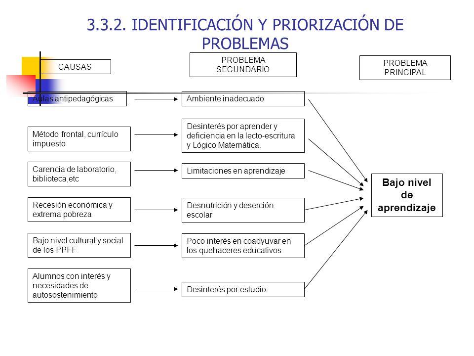 3.3.2. IDENTIFICACIÓN Y PRIORIZACIÓN DE PROBLEMAS