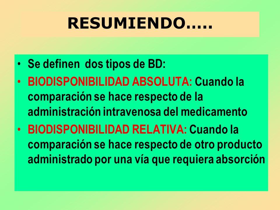 RESUMIENDO….. Se definen dos tipos de BD: