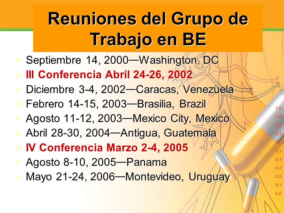 Reuniones del Grupo de Trabajo en BE