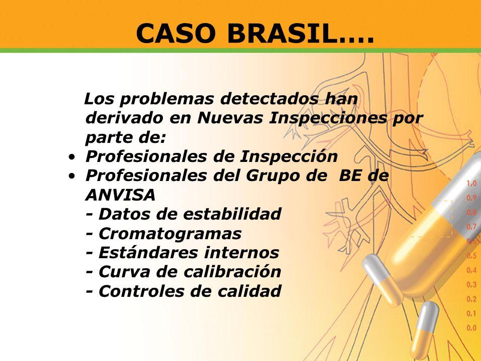 CASO BRASIL…. Los problemas detectados han derivado en Nuevas Inspecciones por parte de: Profesionales de Inspección.