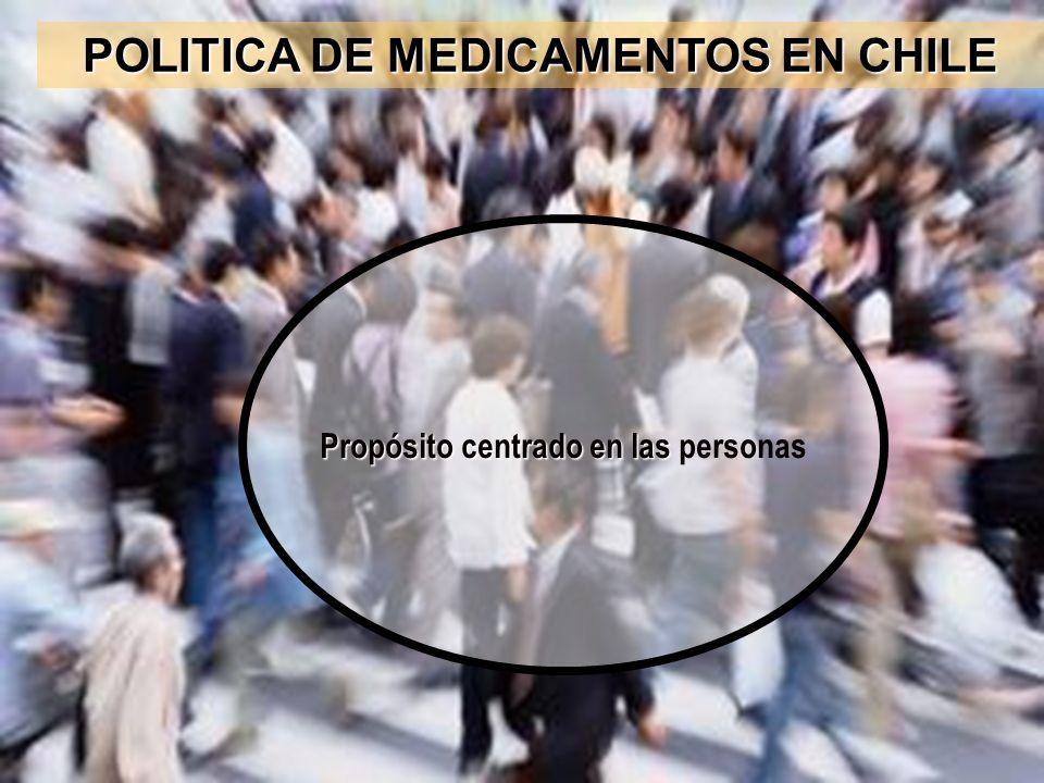 POLITICA DE MEDICAMENTOS EN CHILE Propósito centrado en las personas
