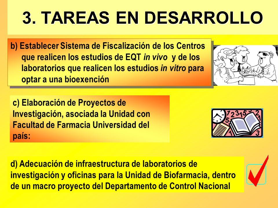 3. TAREAS EN DESARROLLO