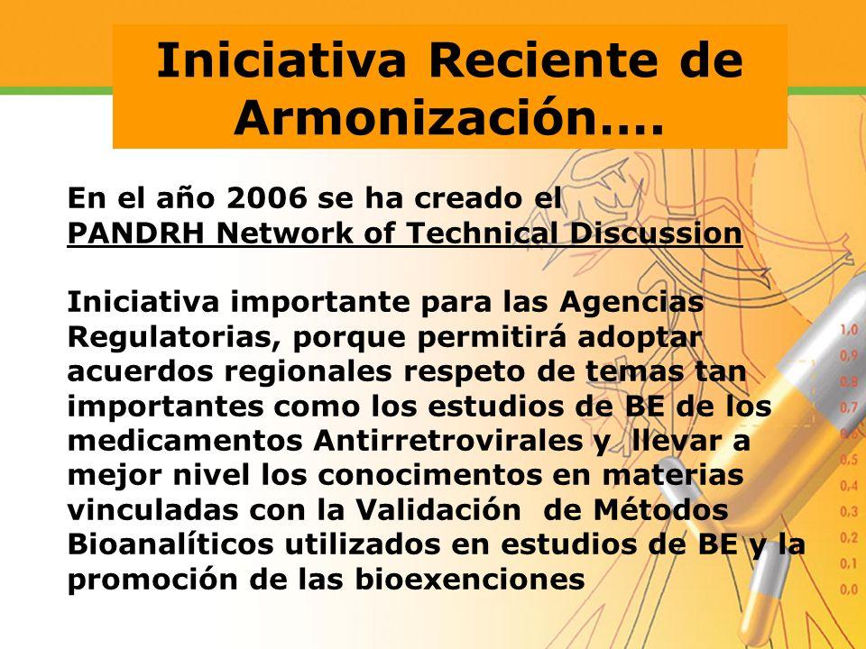 Iniciativa Reciente de Armonización….