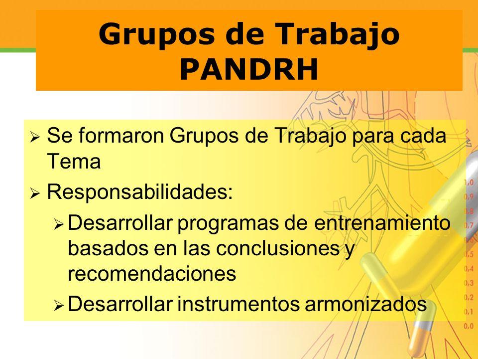 Grupos de Trabajo PANDRH