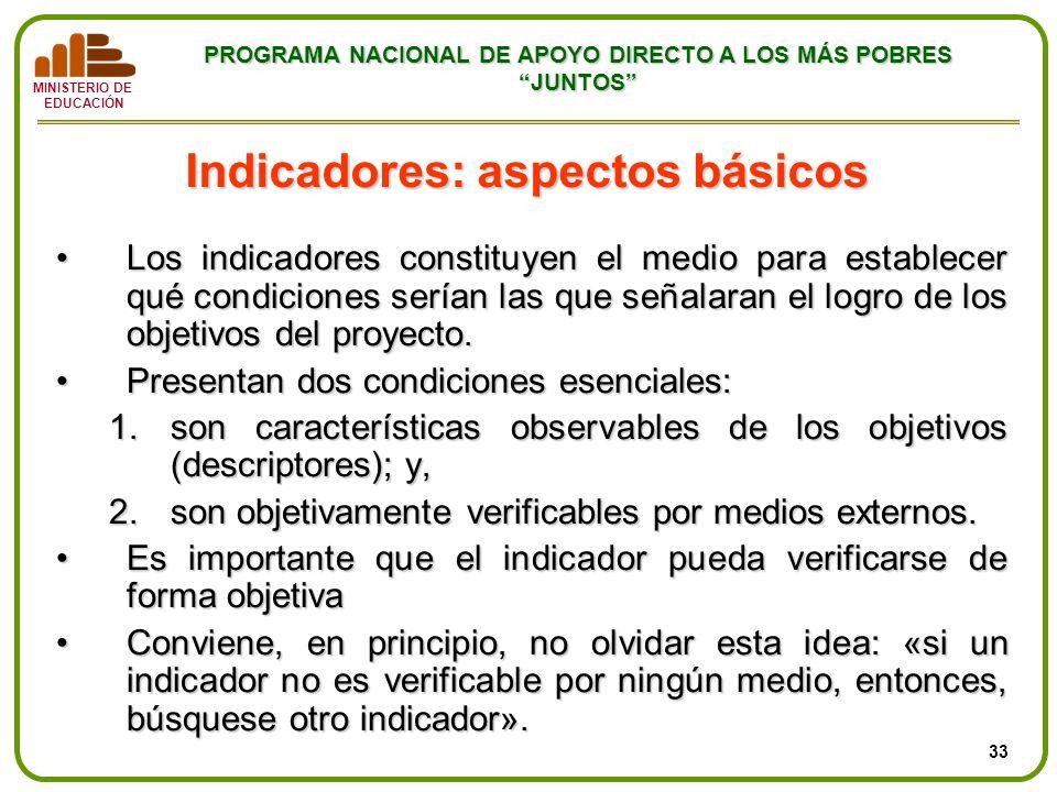 Indicadores: aspectos básicos