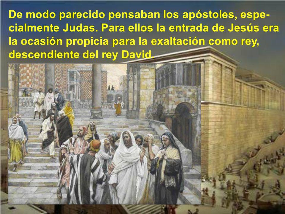 De modo parecido pensaban los apóstoles, espe-cialmente Judas