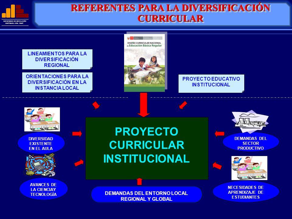REFERENTES PARA LA DIVERSIFICACIÓN CURRICULAR