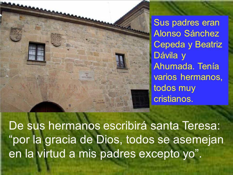Sus padres eran Alonso Sánchez Cepeda y Beatriz Dávila y Ahumada