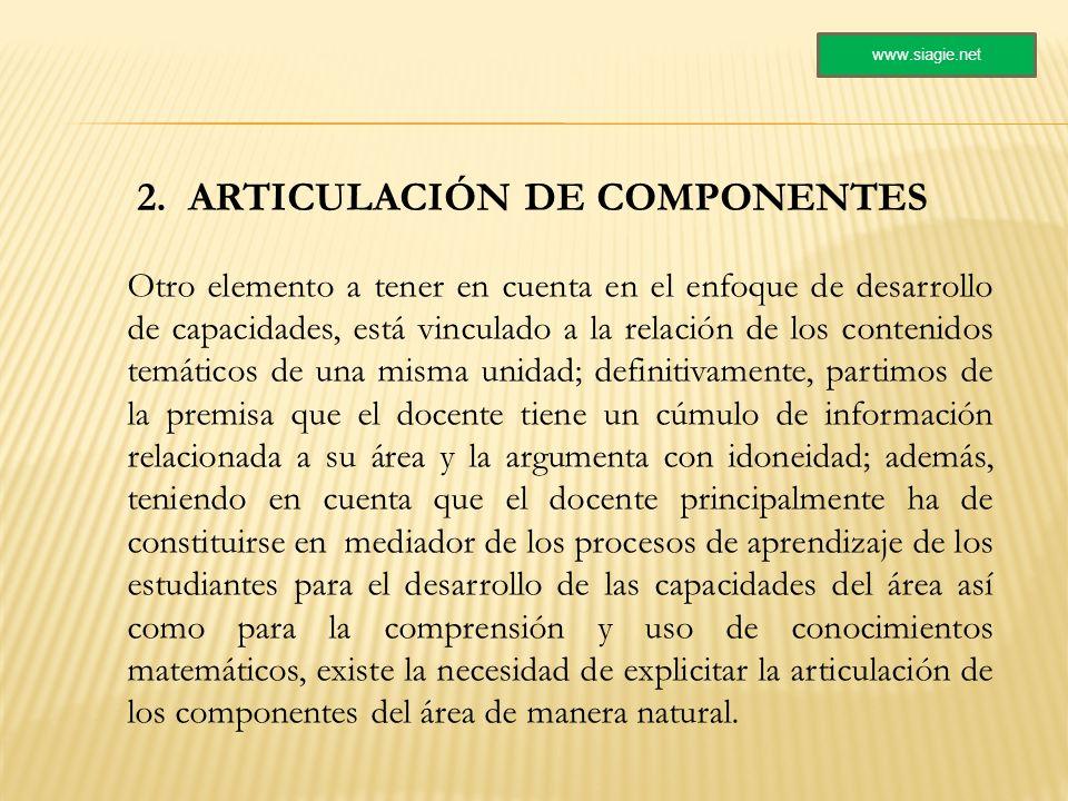 2. ARTICULACIÓN DE COMPONENTES