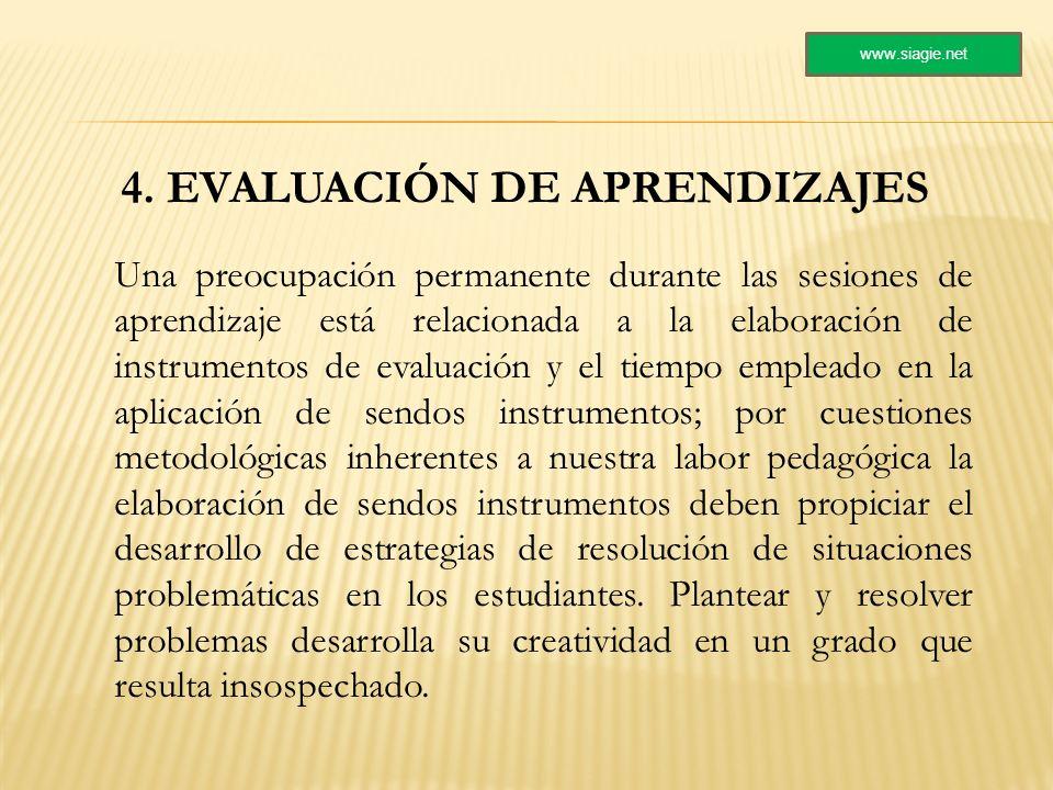 4. EVALUACIÓN DE APRENDIZAJES
