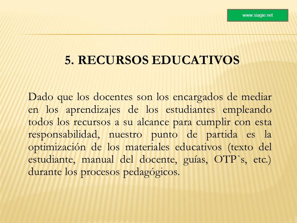 www.siagie.net 5. RECURSOS EDUCATIVOS.