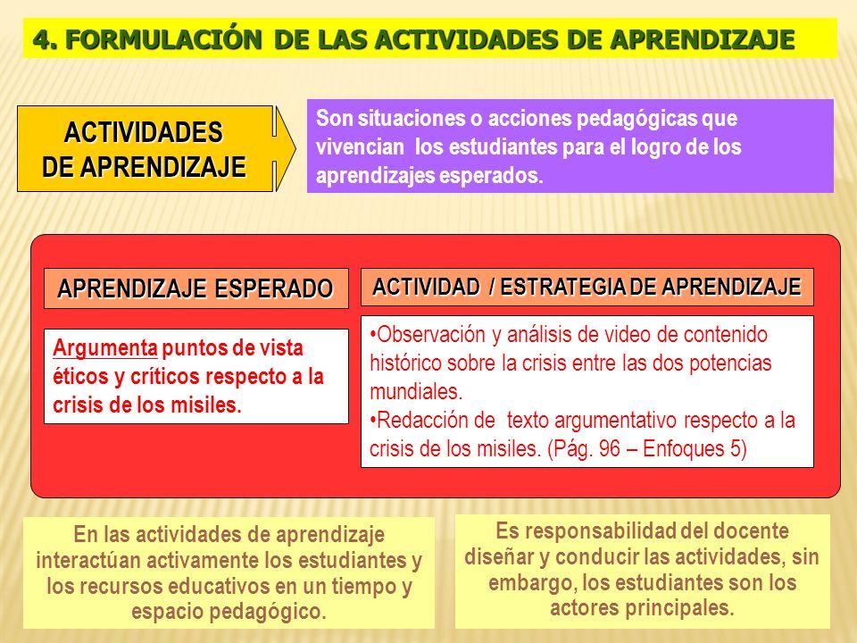 ACTIVIDAD / ESTRATEGIA DE APRENDIZAJE