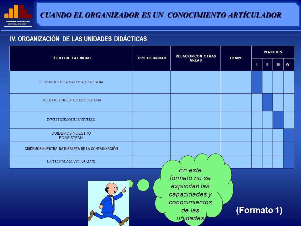 (Formato 1) CUANDO EL ORGANIZADOR ES UN CONOCIMIENTO ARTÍCULADOR