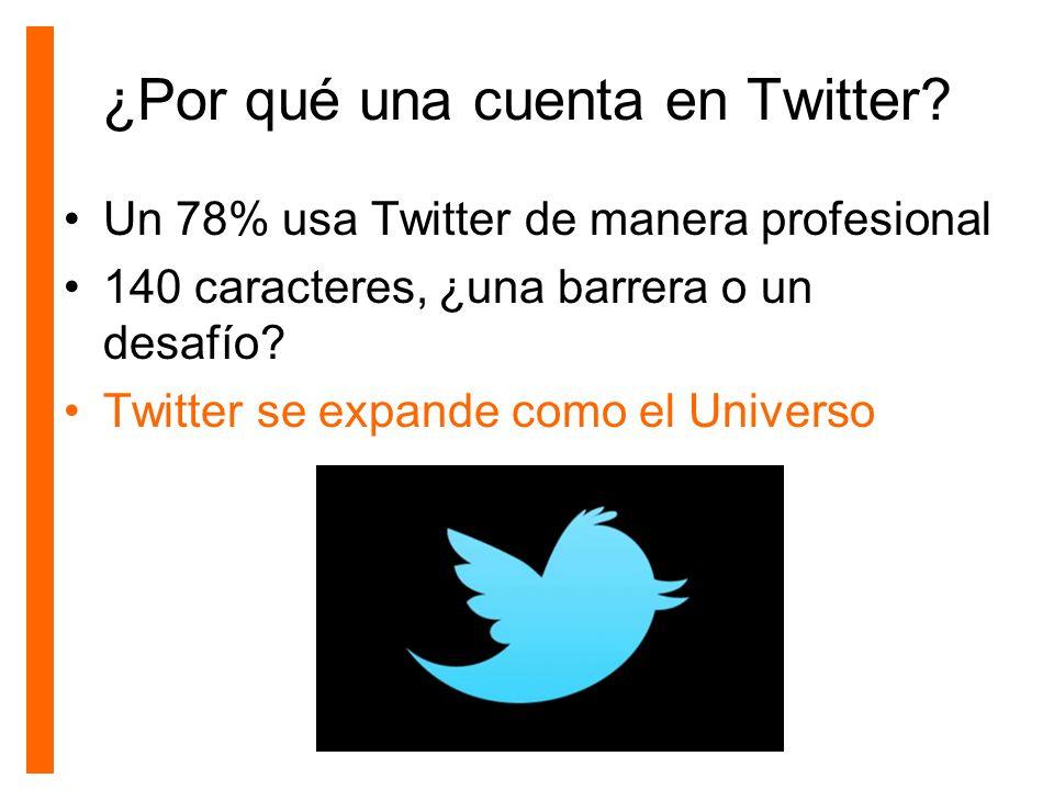 ¿Por qué una cuenta en Twitter
